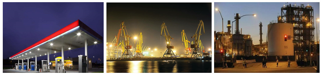 Applications-Gas-Station-Lighting、Power-station-and-Industrial-site.